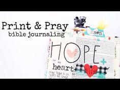 (7) Print & Pray Shop Bible Journaling | Advent Heart - YouTube