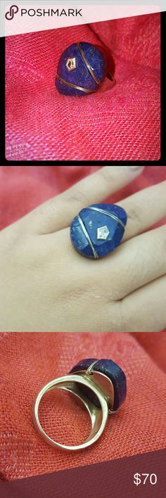Silpada ring Royal blue semi precious stone on a 9.25 Sterling silver band. Great statement piece! Silpada Jewelry Rings