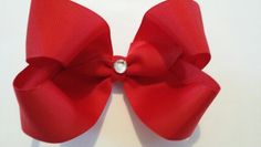 """Red Grosgrain 5"""" Boutique Hairbow"""