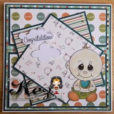 It's Hostess Monday with Kez on our blog http://digitaldelightsbyloubyloo.blogspot.com/ and she had made this fab baby card. She used Little Dumpling digi and It's for you sentiment from www.digitaldelightsbyloubyloo.com