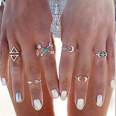 metal wire moon rings - Google Search