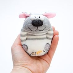 Dog Sock Toy Stuffed Animal Doll Small by moniminiart on Etsy, $13.95