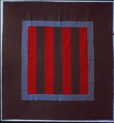 Quilt, Bars pattern. Maker: Amish maker. date: ca. 1900-1950