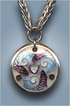 enamel triskele pendant  Great blog about enameling.