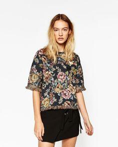 ジャガードTシャツ-すべてを見る-シャツ ブラウス-レディ-ス | ZARA 日本