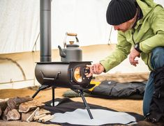 Get comfortable heating and a hot meal with Frontier Plus, the next generation portable #woodburning #stove.