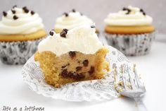 Cupcakesare a big weakness of mine. I can eat way too many of the little suckers. That's why when I made these Cookie Dough Cupcakes,I had to take them to my co-wor...
