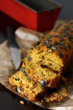Cake salé au potimarron Cake potimarron salé Salted pumpkin cake (in french) cuisine en scène Batch Cooking, Cooking Time, Cookie Salad, French Cake, Cooking Cookies, Raw Cake, No Salt Recipes, Vegan Recipes, Salty Cake
