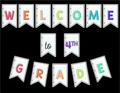 Love to Learn and Teach Welcome your students back to school in style with this FREE Welcome Pennant Banner. Provided with two background choices. Welcome Sign Classroom, Welcome To Kindergarten, Classroom Signs, School Classroom, Classroom Themes, Classroom Organization, Welcome Banner Printable, Welcome Back Banner, Welcome Letters