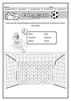 COPA 2108 Word Cup, Math, Reading, School, Spanish, Scrapbook, Physical Education Activities, Motor Activities, Infant Activities