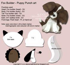 Alex's Creative Corner: Welcome Puppy Punch Art card