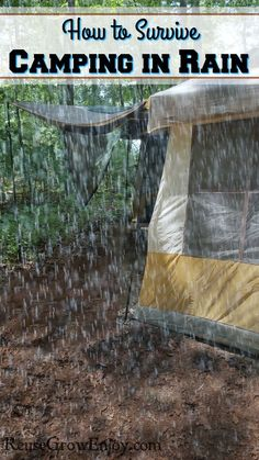 Nothing like going on a camping trip and then it just wants to rain. You can mak. Nothing like going on a camping trip and then it just wants to rain. You can make the most of it by using these tips on How to Survive Camping In The Rain. Camping Ideas For Couples, Camping Hacks With Kids, Camping Diy, Solo Camping, Camping In The Rain, Family Camping, Camping Gear, Outdoor Camping, Camping Storage