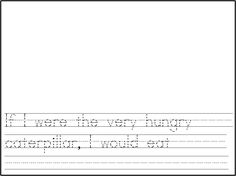 """writing prompt to go with the book, """"The Very Hungry Caterpillar""""!"""
