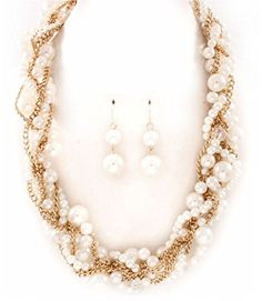 Accessory Accomplice Goldtone Pearl Bead Braided Statement Necklace & Earring Set Accessory Accomplice http://www.amazon.com/dp/B00I0HCT6S/ref=cm_sw_r_pi_dp_sTq7tb11G2GVR