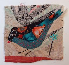 Thread and Thrift: Crazy Patchwork Appliqued Birds
