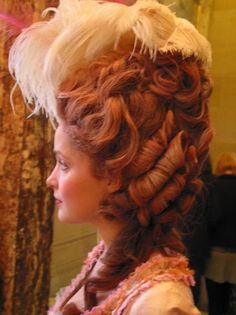 Marie Antoinette style hair