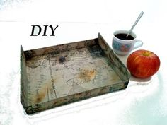 Como hacer una bandeja vintage. DIY, Tray vintage, crafts. - YouTube