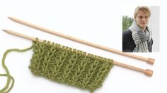 How to knit false English rib with double sts