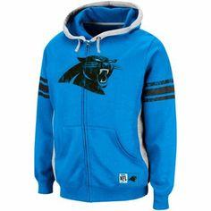 Carolina Panthers Intimidating V Full-Zip Hooded Sweatshirt - Panther Blue 8225350ee