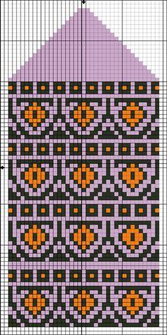 Knitting Charts, Knitting Stitches, Knitting Designs, Knitting Projects, Knitting Patterns, Knitted Mittens Pattern, Knit Mittens, Knitting Socks, Loom Patterns