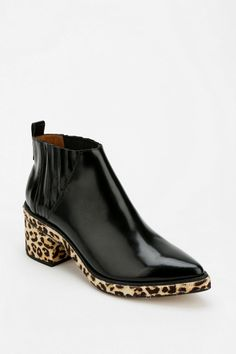 Jeffrey Campbell Weber Leopard Platform Ankle Boot