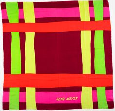 Gene Meyer scarf  featured in the new CFDA book IMPACT