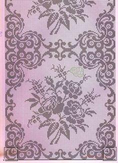 szydełko / filet / serweta na Stylowi.This Pin was discovered by DorŠeme za heklanje – Page 65 Filet Crochet Charts, Crochet Motifs, Crochet Diagram, Thread Crochet, Crochet Doilies, Crochet Patterns, Crochet Bedspread Pattern, Cross Stitch Borders, Cross Stitch Flowers