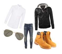 """""""6"""" by eminblazevic on Polyvore featuring Scotch & Soda, Timberland, Topman, SELECTED, men's fashion and menswear"""
