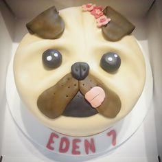 Pug Face Birthday Cake Cherish Bakery