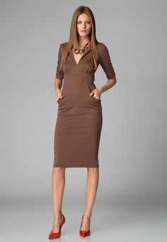 Maiocci - Angy warm brown dress