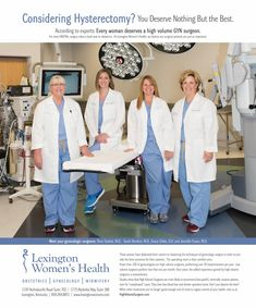 Considering hysterectomy?  You deserve nothing but the best.  According to experts:  Every woman deserves a high volume GYN surgeon. For most OBGYNs, surgery takes a back seat to obstetrics.  At Lexington Women's Health, we believe our surgical patients are just as important.   #hysterectomy #daVinci #gynecology #lexington