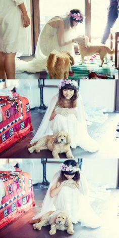 Pretty much everything about Lee Hyori's wedding dress etc is amazing