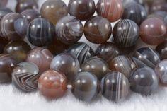 botswana agate,agate bead,gemstone bead,agate,banded bead,striped bead,facet,round bead,10mm bead #etsy #jewelryfindings
