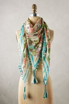 Anthropologie Conservatory Square Scarf #anthrofave