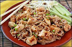 Hungry Girl recipe for guilt-free P.F Chang's Dan Dan Noodles. PIN!