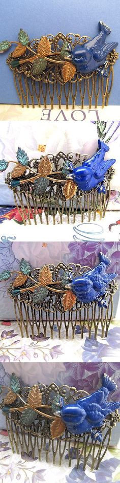 Hair Jewelry 164351: Blue Bird Hair Comb Decorative Combs Metal Vintage Wedding Hair Accessories -> BUY IT NOW ONLY: $30 on eBay!