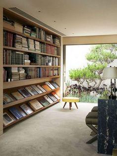 Home Library Diy, Home Library Design, Home Office Design, House Design, Cool Bookshelves, Bookshelf Storage, Bookshelf Design, Bookshelf Ideas, Diy Projects Room Decor