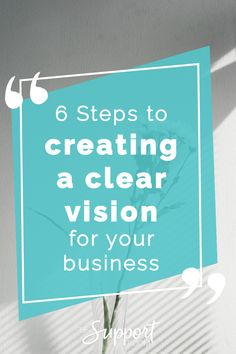 Creating a clear vision is such an important stepping stone to starting and running a successful business. Not just any old vision – a clear vision. Business Advice, Business Women, Business Branding, Personal Branding, Boss Babe, Entrepreneurship, Success, How To Get, Create