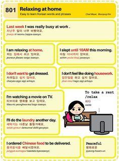 Easy to Learn Korean Language 801 ~ 810 Korean Words Learning, Korean Language Learning, Learn To Speak Korean, Japanese Language Proficiency Test, Korean English, Learn Hangul, Korean Writing, Korean Phrases, Korean Alphabet
