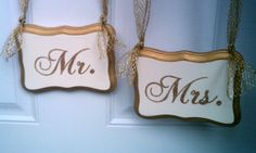 Wedding Signs GLITTERED Mr. & Mrs. Chair Signs Gold Wedding Decorations Fairytlale Cinderella