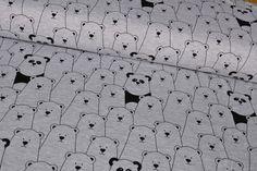 Kinderstoffe - Stoff Jersey Hide/Seek Tiere/Eisbären schwarz/grau - ein Designerstück von LIJO-Stoffe bei DaWanda