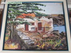 """. Un cuadro del prestigioso artista Jordi Pagans i Montsalvatge ¡¡¡POR SÓLO 399 €!!!  """" Cadaqués"""" , de Jordi Pagans i Montsalvatge. Óleo y acuarela.  Año 1970   60 x 50 cm."""