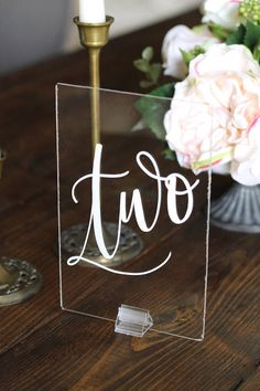 Beautiful wedding acrylic table numbers, perfect for your modern, vintage, or rustic wedding! ◆◆ DETAILS ◆◆ ✓ Select the quantity you need & if you would like stands ✓ Provide your lettering color ✓ Lead time is 5 weeks & ships priority mail ✓ Table numbers measure 4x6 inches ✓
