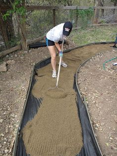 thrifty little blog: Creating a Decomposed Granite Path