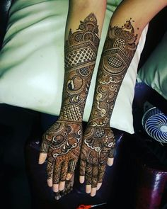 Get Amazing Collection of Full Hand Mehndi Design Ideas here.