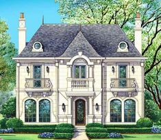 chateau voila house plan 2 story 4 bedroom 4 full bathrooms home - French Design Homes
