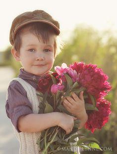 Bringing Mom Some Flowers