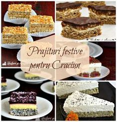 Good Food, Yummy Food, Romanian Food, Christmas Cookies, Cheesecakes, Delicious Desserts, Sweet Tooth, Sweet Treats, Favors
