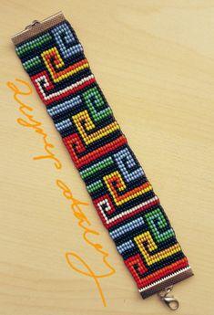 off loom beading Native Beading Patterns, Bead Embroidery Patterns, Beaded Bracelet Patterns, Bead Loom Patterns, Beaded Embroidery, Bead Loom Bracelets, Beads And Wire, Bead Crochet, Loom Beading
