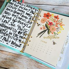 DIY Filofax monthly dividers made from monthly tabs sandwiched between Rifle Paper Co. calendar pages and scrapbook paper. So cute!